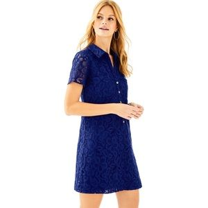 Lilly Pulitzer Nelle Blue Lace Shift Dress